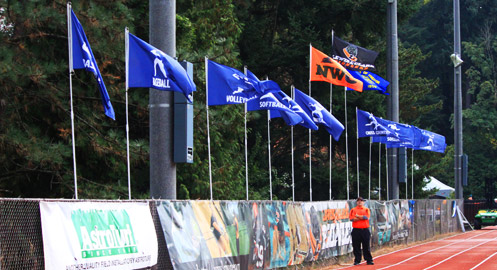 Full-color nylon flags, poles, and mounting hardware