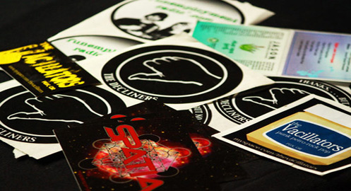 Vinyl & paper labels/stickers. Digital, screened, die-cut.
